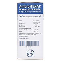AmbroHEXAL Hustensaft für Kinder 15mg/5ml 100 Milliliter N1 - Linke Seite