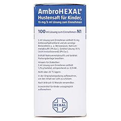 AmbroHEXAL Hustensaft für Kinder 15mg/5ml 100 Milliliter N1 - Rechte Seite