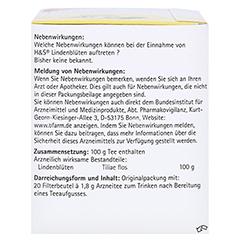 H&S Lindenblüten 20x1.8 Gramm - Linke Seite