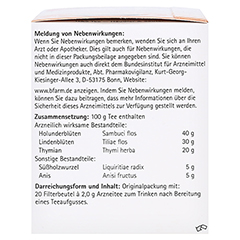 H&S Erkältungstee 20x2.0 Gramm - Linke Seite