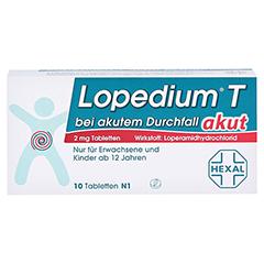 Lopedium T akut bei akutem Durchfall 10 Stück N1 - Vorderseite