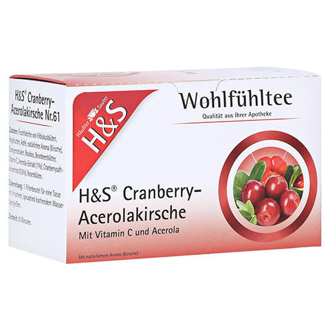 H&S Cranberry Acerolakirsche Filterbeutel 20x2.8 Gramm