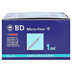 BD Micro-fine + U 40 Insulinspritze 12,7mm 100x1 Milliliter - Linke Seite