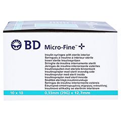BD Micro-fine + U 40 Insulinspritze 12,7mm 100x1 Milliliter - Rechte Seite