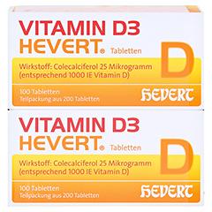Vitamin D3 Hevert 200 Stück - Vorderseite