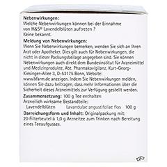 H&S Lavendelblüten 20x1.0 Gramm - Linke Seite