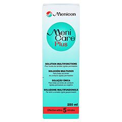 MENI CARE Plus Kontaktlinsenpflegemittel 250 Milliliter - Rückseite