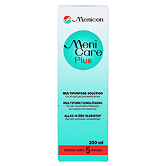 MENI CARE Plus Kontaktlinsenpflegemittel 250 Milliliter - Vorderseite