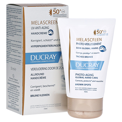 DUCRAY MELASCREEN Photoaging Handcreme LSF 50+ 50 Milliliter