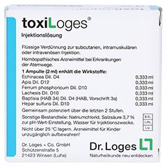 TOXILOGES Injektionslösung Ampullen 10x2 Milliliter N1 - Rückseite