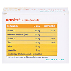 Ocuvite Lutein Granulat Kapseln 30 Stück - Rückseite