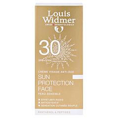 WIDMER Sun Protection Face Creme 30 leicht parfüm 50 Milliliter - Rückseite