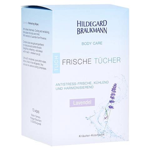 Hildegard Braukmann BODY CARE Lavendel Frische Tücher 10 Stück