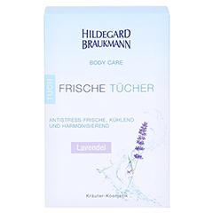 Hildegard Braukmann BODY CARE Lavendel Frische Tücher 10 Stück - Vorderseite