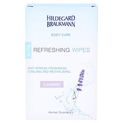 Hildegard Braukmann BODY CARE Lavendel Frische Tücher 10 Stück - Rückseite