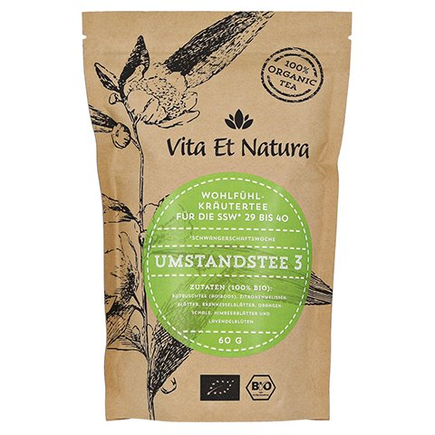 Vita Et Natura BIO Umstandstee 3 Schwangerschaftstee 60 Gramm