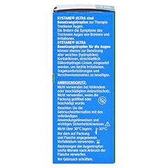 SYSTANE Ultra Benetzungstropfen + gratis Systane Hydration UD 5 X 0,7 ml 10 Milliliter - Rechte Seite