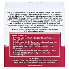 FREI ÖL Anti-Age Hyaluron Lift TagesPflege LSF 15 50 Milliliter - Rückseite