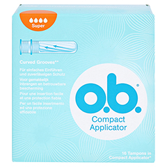 COMPACT Applicator f.o.b.Tampons super 16er 16 Stück - Vorderseite