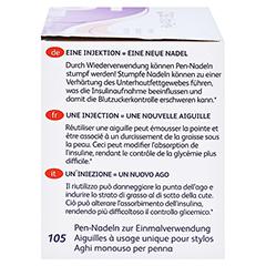 BD ULTRA-FINE Pen-Nadeln 5 mm 31 G 0,25 mm 105 Stück - Rechte Seite