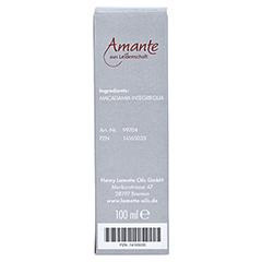 MACADAMIANUSSÖL 100% rein Hautpflegeöl Amante 100 Milliliter - Rückseite