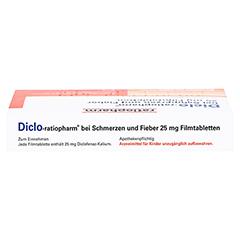 Diclo-ratiopharm bei Schmerzen und Fieber 25mg 20 Stück - Oberseite