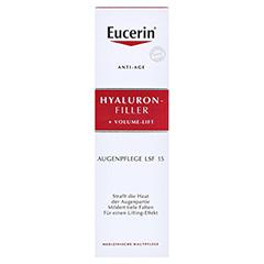 Eucerin Hyaluron-Filler + Volume-Lift Augenpflege + gratis Eucerin Dermatoclean Mizellen-Reinigung 100ml 15 Milliliter - Vorderseite