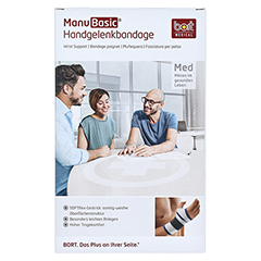 BORT ManuBasic Bandage rechts S schwarz 1 Stück - Vorderseite