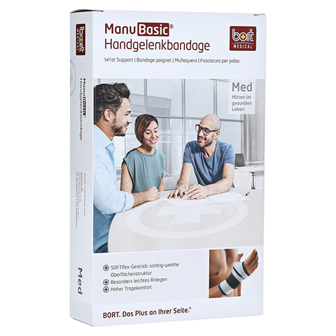 BORT ManuBasic Bandage rechts S schwarz 1 Stück