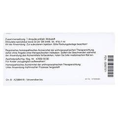 ARTICULATIO sacroiliaca GL D 8 Ampullen 10x1 Milliliter N1 - Rückseite