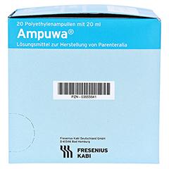 AMPUWA Plastikampullen Injektions-/Infusionslsg. 20x20 Milliliter N3 - Rechte Seite