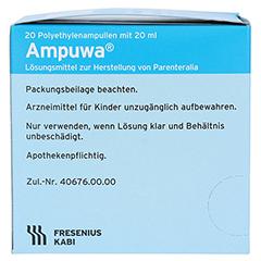 AMPUWA Plastikampullen Injektions-/Infusionslsg. 20x20 Milliliter N3 - Linke Seite