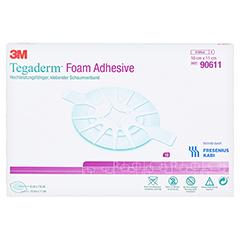 TEGADERM Foam Adhesive FK 10x11 cm oval 90611 10 Stück - Vorderseite