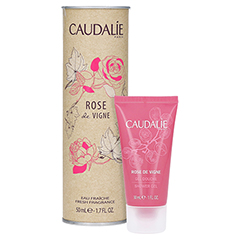 CAUDALIE Eau fraiche Rose de vigne Spray + gratis Caudalie Duschgel Rose de Vigne 30 ml 50 Milliliter