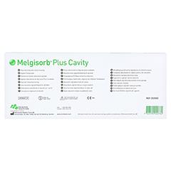 MELGISORB Plus Cavity Alginat 3x45 cm Tamponade 5 Stück - Rückseite
