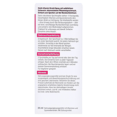 BETTERYOU MultiVit Direkt-Spray 25 Milliliter - Rückseite