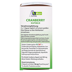 CRANBERRY VEGAN Kapseln 400 mg 60 Stück - Linke Seite