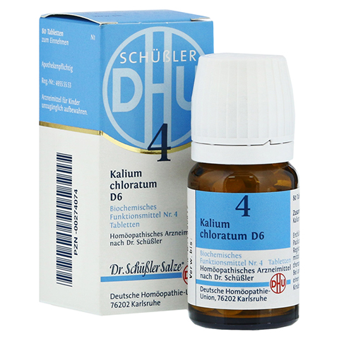 BIOCHEMIE DHU 4 Kalium chloratum D 6 Tabletten 80 Stück N1