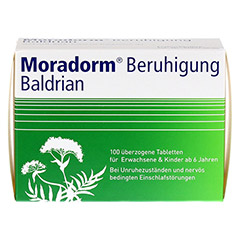 Moradorm Beruhigung Baldrian 100 St�ck - Vorderseite