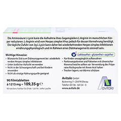 Avitale L-Lysin 750 mg 90 Stück - Oberseite