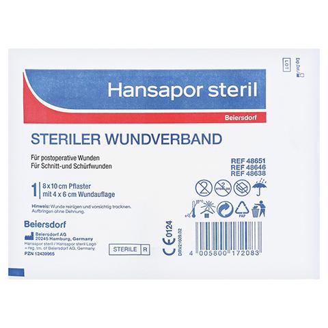 HANSAPOR steril Wundverband 8x10 cm 1 Stück