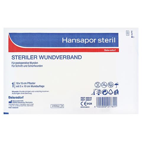 HANSAPOR steril Wundverband 10x15 cm 1 Stück