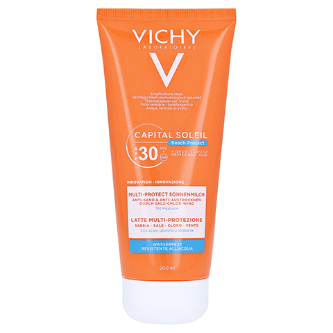 Vichy Capital Soleil Beach Protect Sonnenmilch LSF 30 200 Milliliter