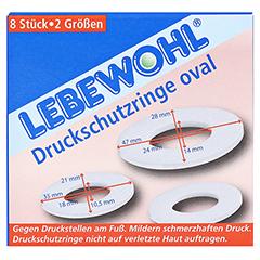 LEBEWOHL Druckschutzringe oval 8 Stück - Vorderseite