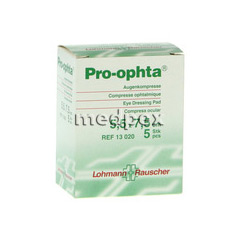 PRO-OPHTA Kompressen 5,5x7,5 cm unsteril 5 Stück