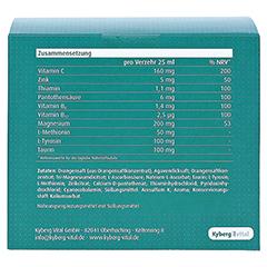 AMINOPLUS fokus Trinkampullen 30x25 Milliliter - Rückseite