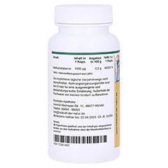 METHYLCOBALAMIN 1000 µg Vitamin B12 Kapseln 90 Stück - Rückseite