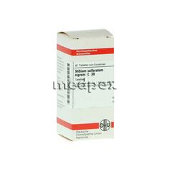 STIBIUM SULFURATUM NIGRUM C 30 Tabletten 80 Stück