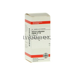 STIBIUM SULFURATUM NIGRUM D 10 Tabletten 80 Stück N1