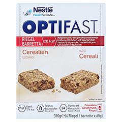 OPTIFAST Riegel Cerealien 6x65 Gramm - Vorderseite